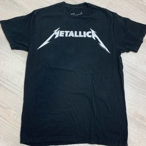 Metallica Concert Tour Band Graphic T Shirt Large